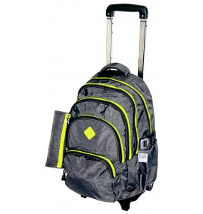 Edison Sport Nylon Trolley Backpack - (Removable Folding Trolley)