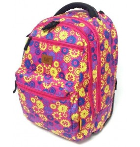 Caterpillar Millennial XLTrolley Backpack Cog Wheels Fuchsia/Blue/Yellow/Purple