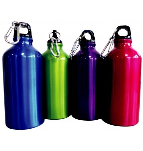 Tosca 500ml Aluminium Sport Bottle with Carribiner Cap