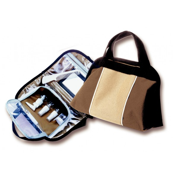 Cosmetic Bag With Bottles