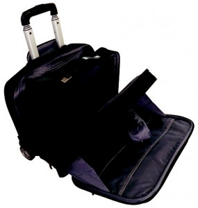 """Overnight Laptop Trolley Briefcase - 4 Divisions - 17"""""""