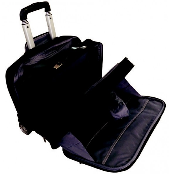Overnight Laptop Trolley Briefcase - 4 Divisions - 17""